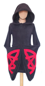 Fleece Pentacle Arabelle dress/hoodie - TPF Faerie Wear