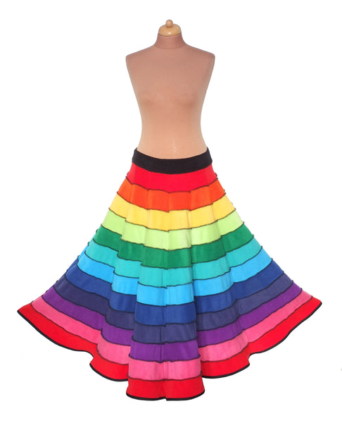 Rainbow Fleece 'Telmandolle' Skirt - TPF Faerie Wear