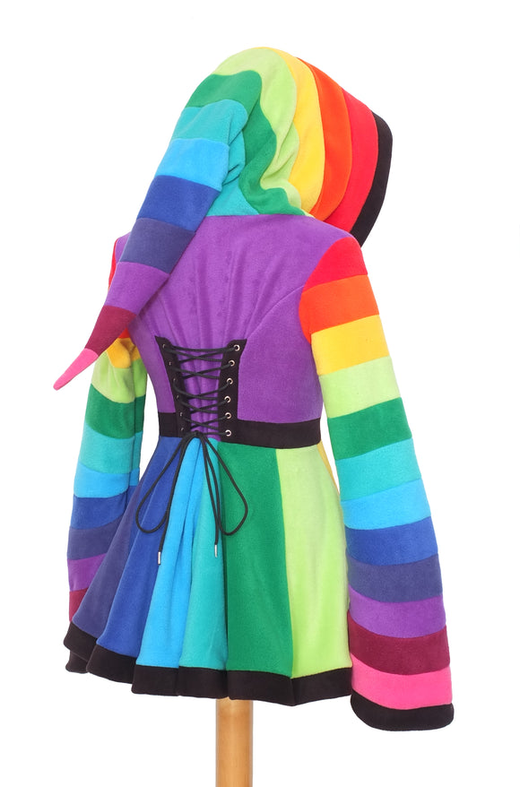 Short rainbow 'Tournedot' Jacket - TPF Faerie Wear
