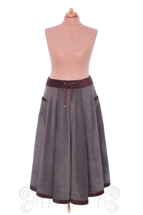 'Telmandolle' Maxi Length Skirt - Polar Fleece
