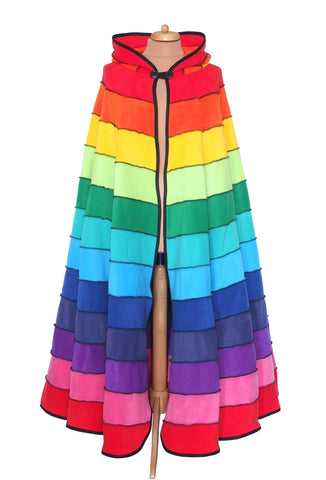 Rainbow full length 'Dolmantelle' Cloak - TPF Faerie Wear
