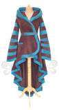 Hi-Low 'Tournedot' Jacket - 2 Tone Fleece - Narrow Stripes - TPF Faerie Wear