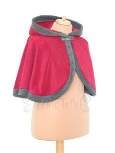 Short 'Dolmantelle' Cloak with large rounded hood
