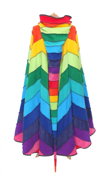 Rainbow zigzag full length 'Dolmantelle' Cloak - TPF Faerie Wear