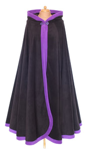 Long 'Dolmantelle' Cloak with large rounded hood - TPF Faerie Wear