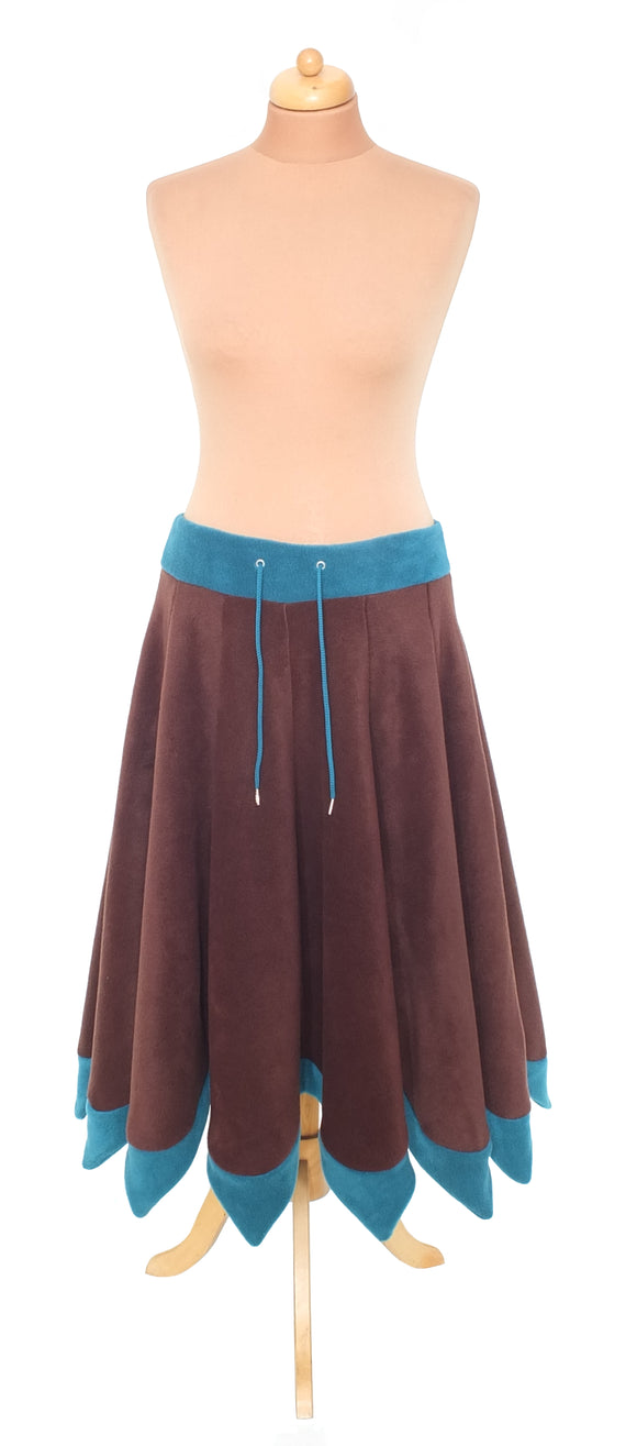 Plain 'Telmandolle' Midi length pixie hemmed skirt - TPF Faerie Wear