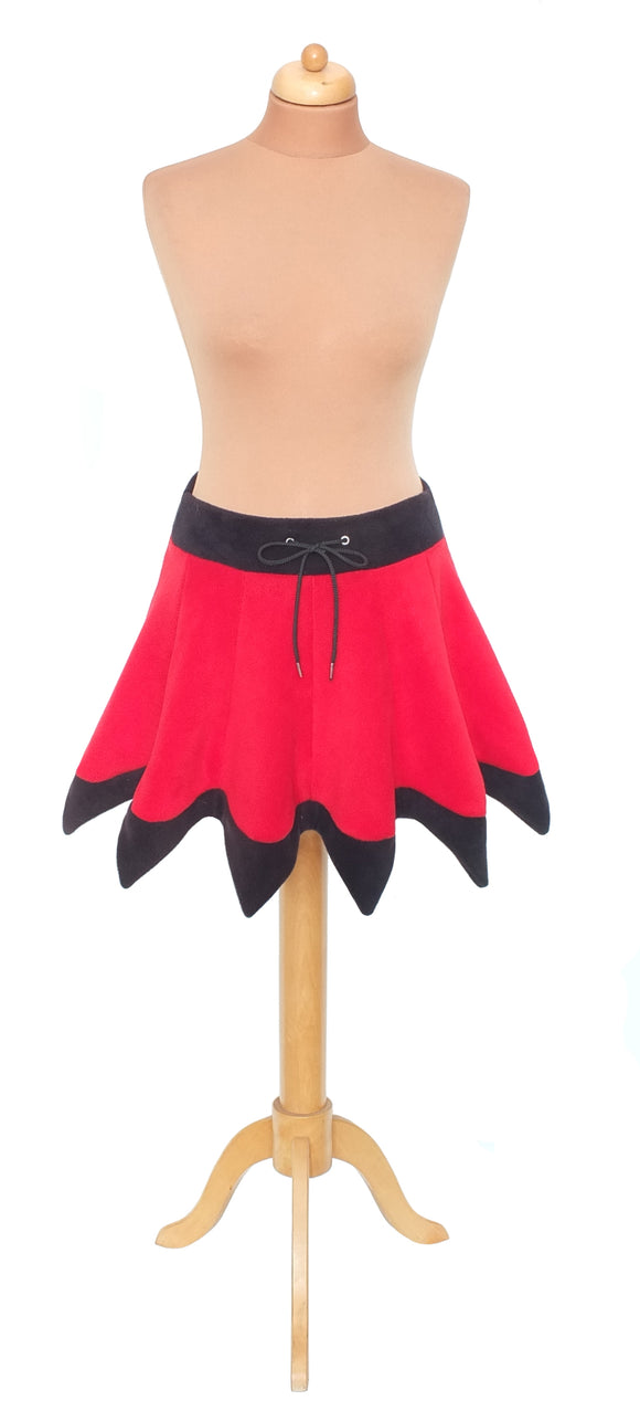 Plain 'Telmandolle' Mini length pixie hemmed skirt - TPF Faerie Wear