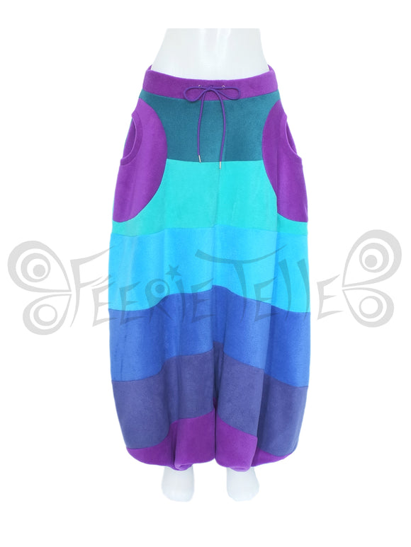 'Harouel' Pants - 6 Tone Fleece - Wide Stripes - TPF Faerie Wear