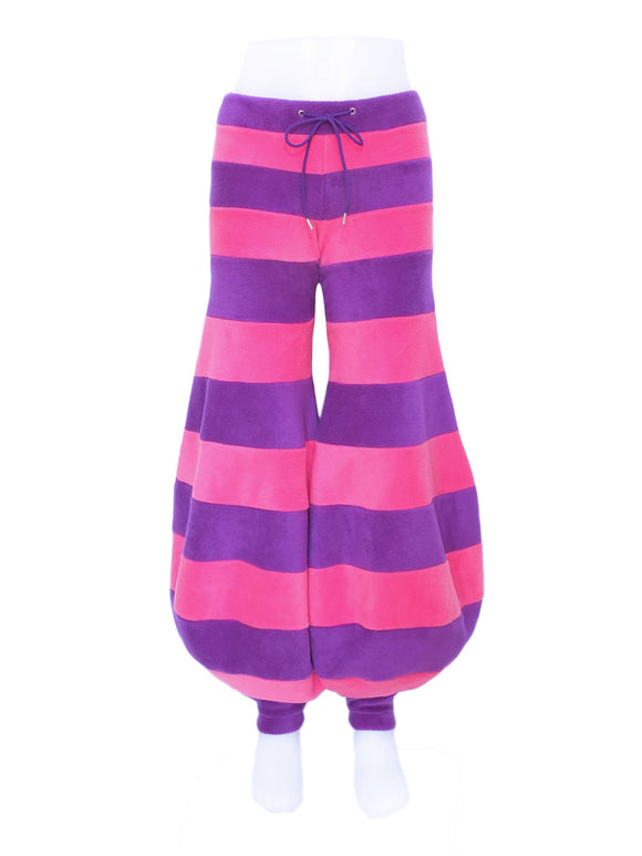 Stripey Fleece Balloon flares - 2 tone