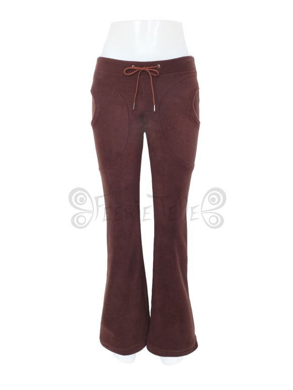 Plain Fleece Bootcut Trousers - TPF Faerie Wear