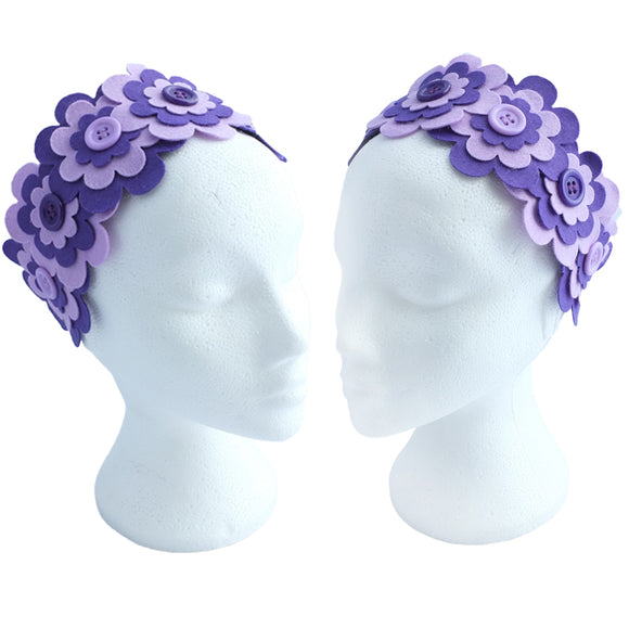 Flower Headband  | Purple & Lilac - TPF Faerie Wear