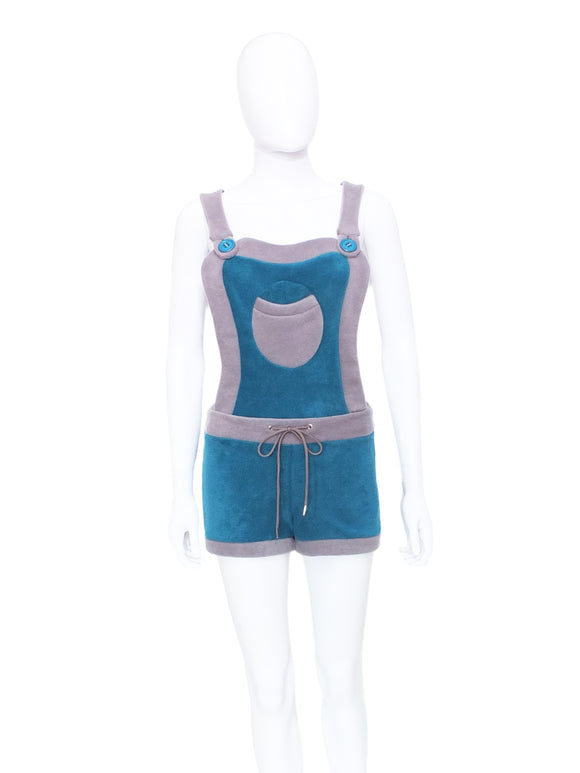 Plain fleece Dungaree shorts - TPF Faerie Wear