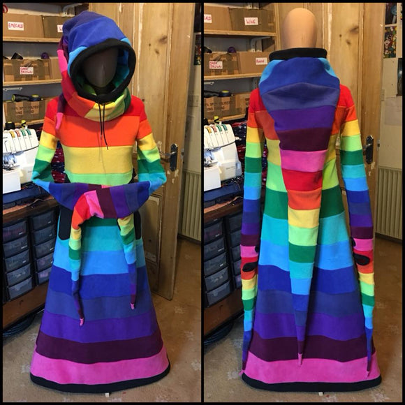 Long Rainbow 'Arabelle' hoodie - TPF Faerie Wear
