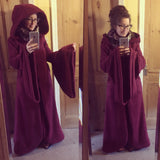 Fleece Zip up Arabelle Jacket / Robe with oversized hood and sleeves. - TPF Faerie Wear