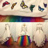 Rainbow Long Raggle-Taggle Tutu Skirt