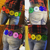 Giant Button Belt - Rainbow - TPF Faerie Wear