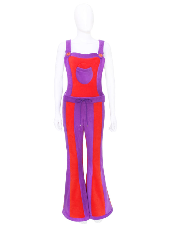 Vertical striped Dungaree flares - 2 tone - TPF Faerie Wear