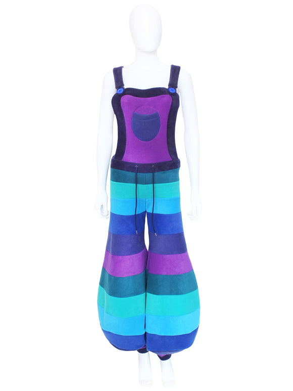 Horizontal Stripe Balloon Dungaree flares  - 6 Tone - TPF Faerie Wear