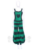Horizontal Stripe Balloon Dungaree flares  - 2 Tone - TPF Faerie Wear