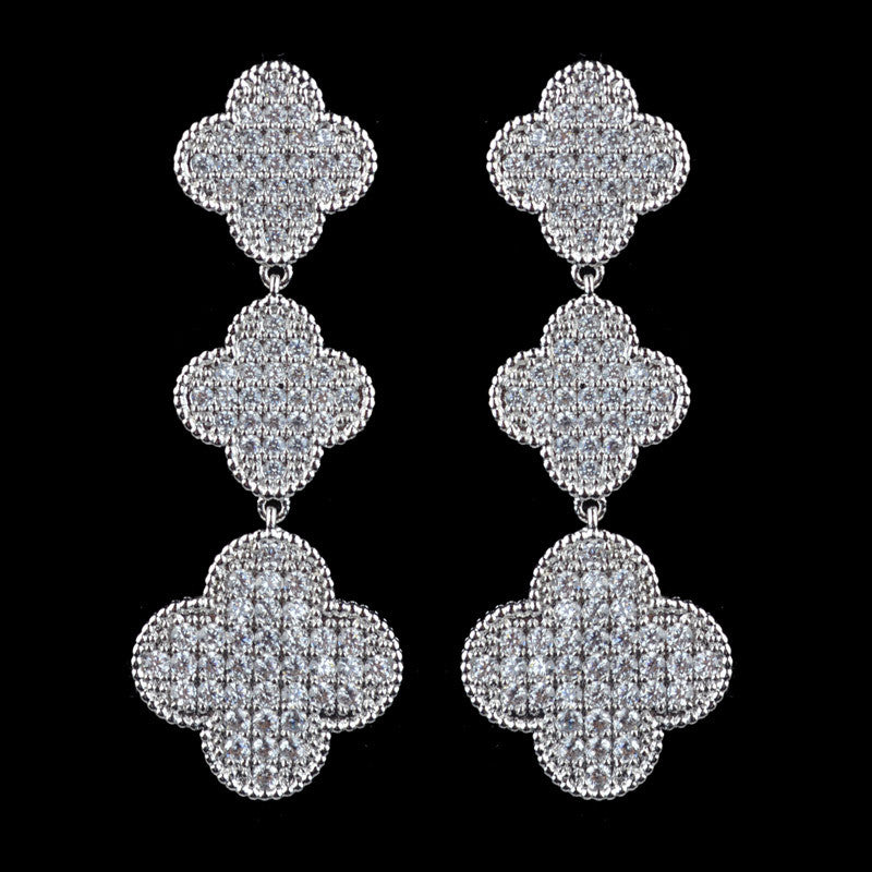 Four Leaf Clover earrings for wedding/party