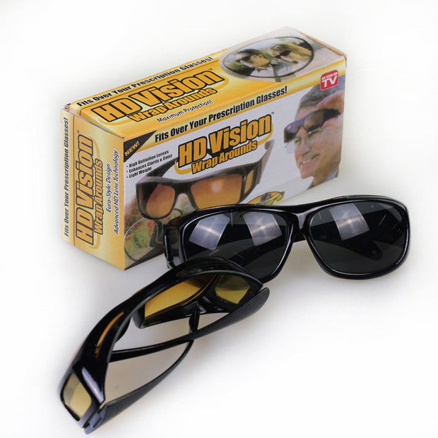 HD Vision Driving Glasses - 2 Pairs (Day & Night)