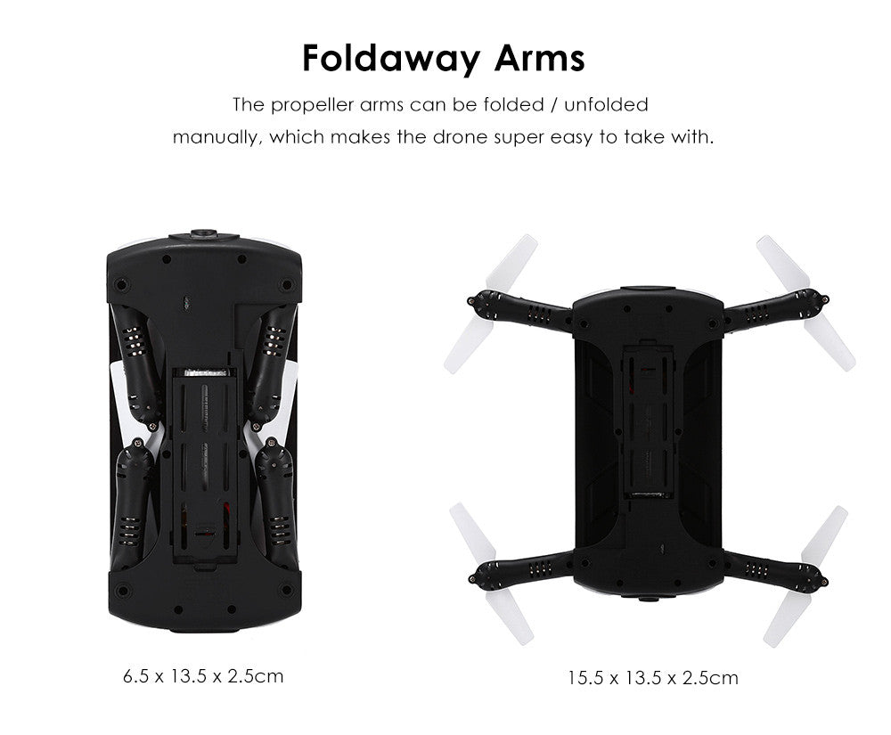 Pocket Selfie Foldable Camera Drone