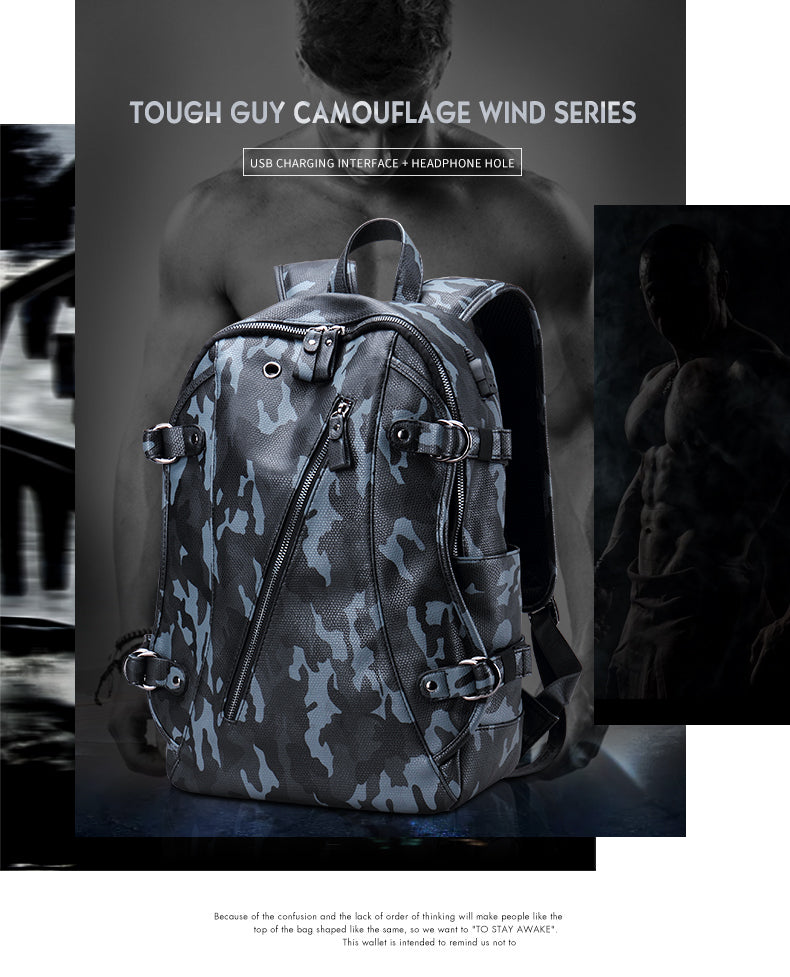 Camouflage pu Backpack