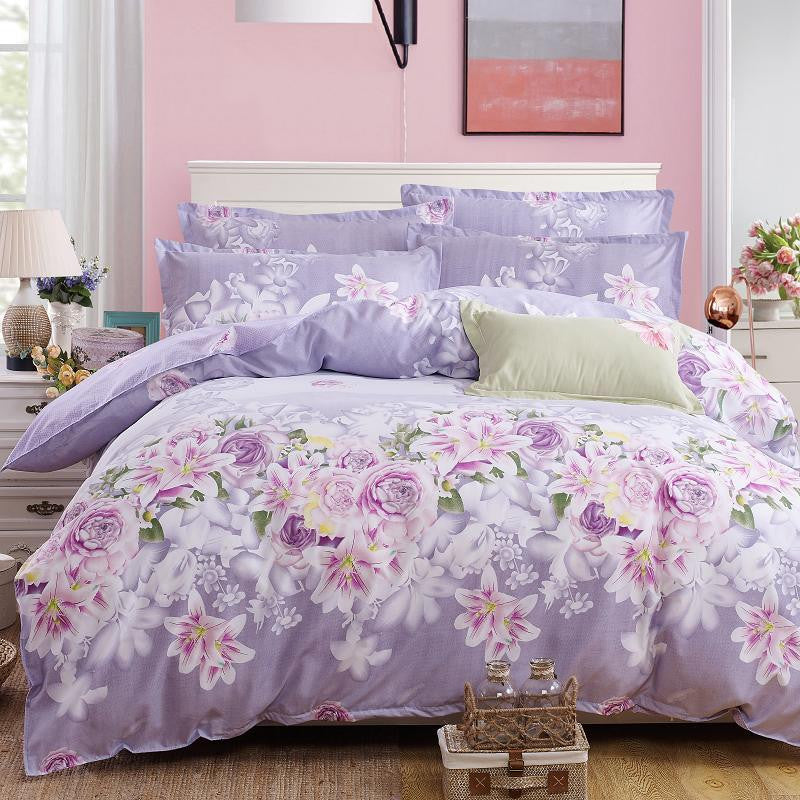 Plaid Bedding Set 4pcs