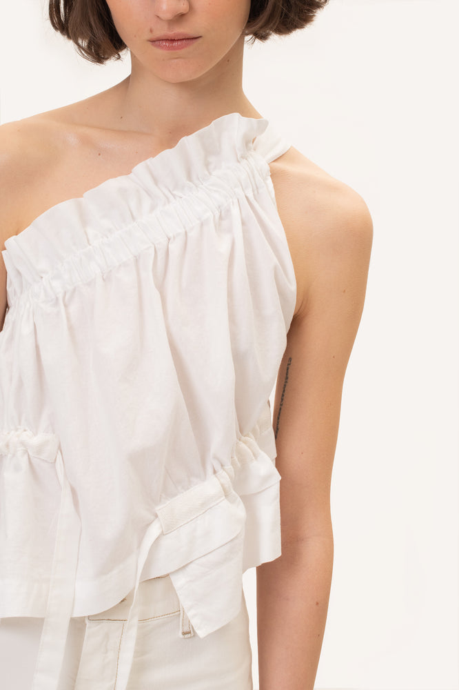 The Ruffle Top White