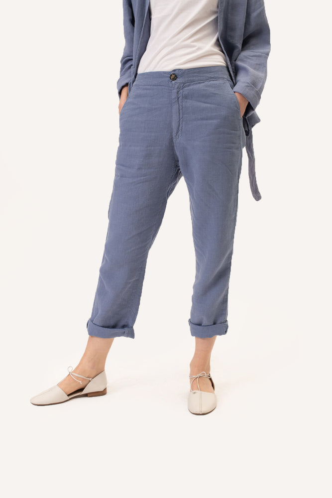 The Blue Linen Pants