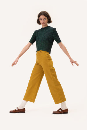 The Dora Denim Pants Saffron