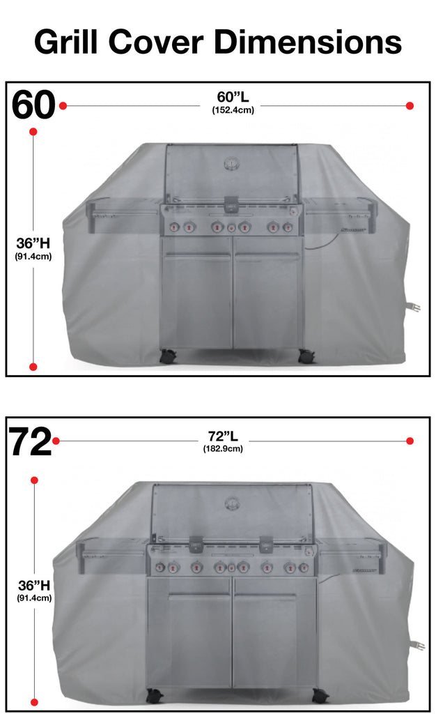 Grill Cover Sizing Chart