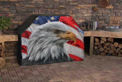 American Eagle Flag Full BBQ Grill Cover