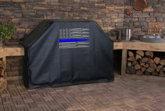 Ammo Flag Thin Blue Line Grill Cover