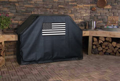 Black and White American Flag Grill Cover