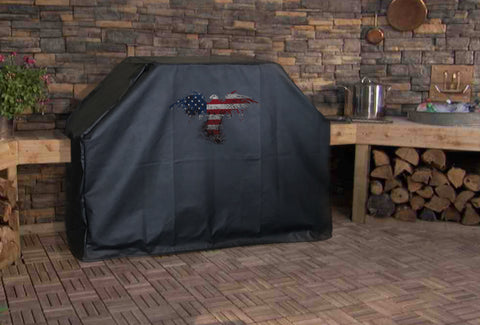 American Flag Eagle Outline BBQ Grill Cover