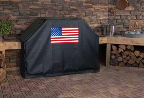 American Flag Color BBQ Grill Cover