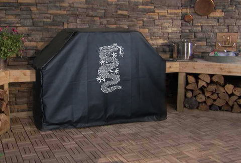 Ancient Chinese Dragon Grill Cover