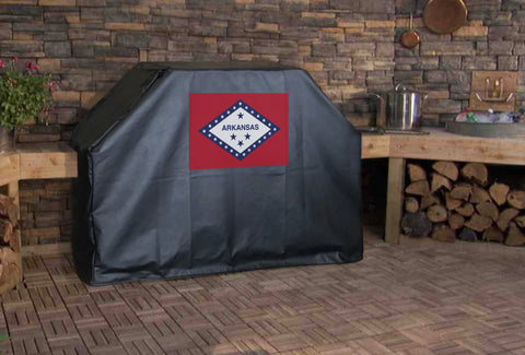 Arkansas State Flag Grill Cover