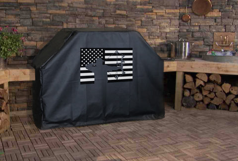 Bow Hunt American Flag Grill Cover