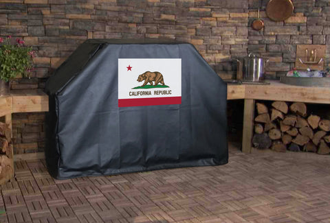 California State Flag Grill Cover