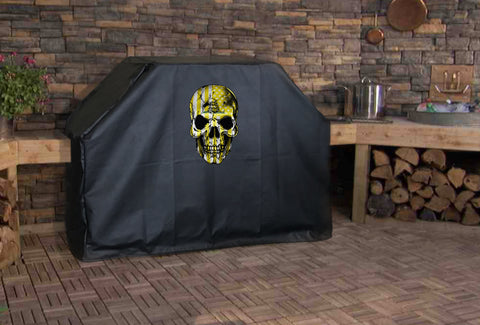 Don't Tread on Me Flag Skull Grill Cover