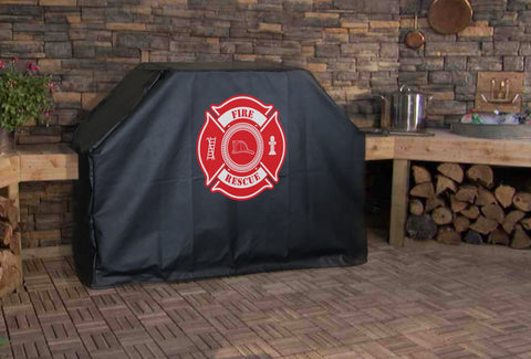 Fire Rescue Maltese Cross Grill Cover