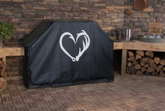 Fish Hook Antler Heart Custom Grill Cover
