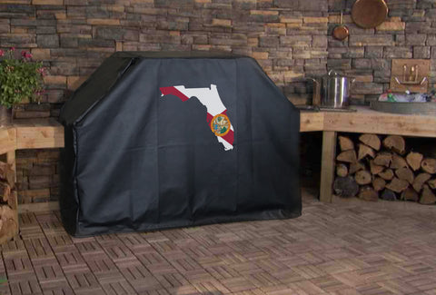 Florida State Outline Flag Grill Cover
