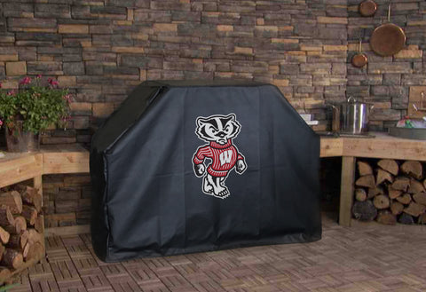 Wisconsin University Badger Logo BBQ Grill Cover