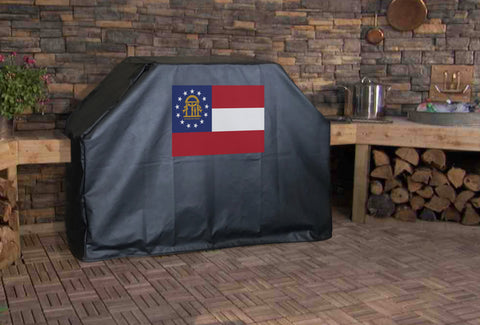 Georgia State Flag Grill Cover