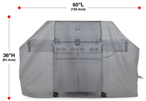 Great White Shark Swimming Full BBQ Grill Cover