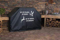 If it Flies it Dies Logo Grill Cover