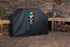 Ireland Flag Skull Grill Cover